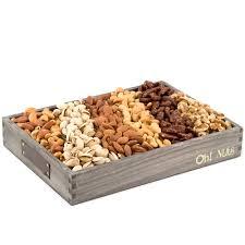 nut baskets wooden nut line up gift basket large nut gift baskets