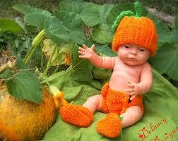 Infant Halloween Costumes 3 6 Months Crochet Pumpkin Hat Diaper Cover Booties Photo Prop