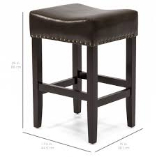 best counter best choice products set of 2 backless leather counter stools w brass