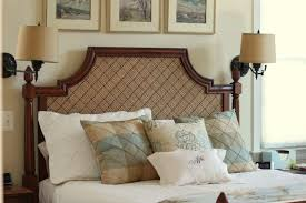 beautiful upholstered headboards beautiful upholstered and wood headboard with bedroom fabric
