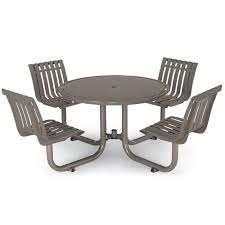 outdoor chair with table attached latitude table with 4 contour seats picnic tables upbeat com