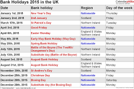 bank holidays 2015 in the uk