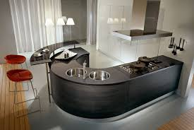 Pedini Kitchens With Rounded Countertops DigsDigs - Round sink kitchen
