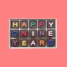 9th anniversary gift 9th anniversary gift happy nine 9 years by what candy says on zibbet
