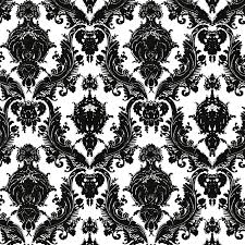 damsel self adhesive wallpaper in white and black design by