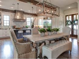 Kitchen Dining Light Fixtures Pretty Kitchen And Dining Room With An Open Floor Plan Kitchen
