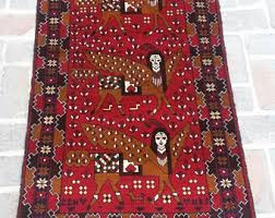 Baluch Rugs For Sale Pictorial Baluch Etsy