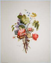 vintage jean louis prevost floral prints published by sidney z