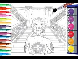 how to paint sofia the first coloring pages coloring sofia the