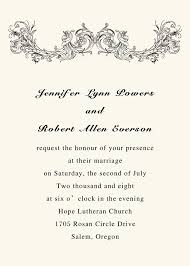 wedding programs wording exles simple vintage ivory printable wedding invitations with response