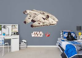 millennium falcon wall decal shop fathead for star wars movies