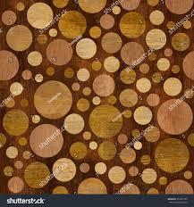 circular wood wall abstract circular pattern decor dotted stock illustration