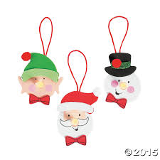 christmas character tea light ornament craft kit 12 pk party