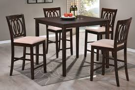dining room awesome round bar table 5 piece round counter height