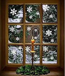 Commercial Christmas Window Decorations by Amazon Com Snowflake Window Clings 69 Pcs Per Set 1 1 2