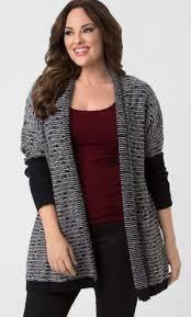 plus size sweaters knit wrap by lysse