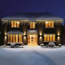 buy premier snowing led icicle lights 360 warm white from our all