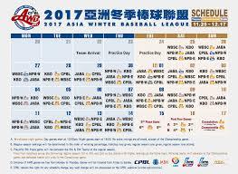 2017 asia winter baseball league roster cpbl npb kbo jaba