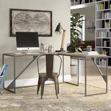 industrial desk l industrial desks you ll love wayfair