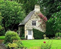 houses sweet small cottage flowers forest home free desktop