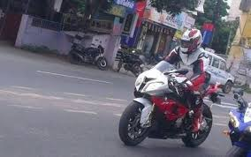 bmw s1000rr india bmw s1000rr ajith enjoys his bmw bike in ecr times of india