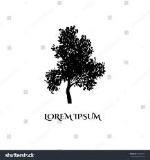 vector illustration hand drawn sketched tree stock vector