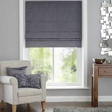 Blackout Curtains And Blinds Hotel Venice Graphite Grey Blackout Roman Blind Dunelm Would