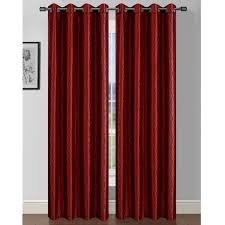 Sheer Maroon Curtains Window Elements Jasper Geometric Sheer Grommet Curtain Panels