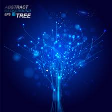 blue backdrop abstract blue backdrop design with wires vector