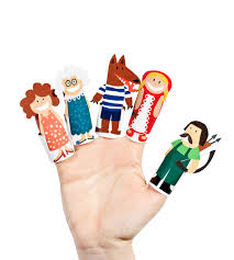 little red riding hood paper finger puppets printable pdf