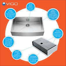 Premium Kitchen Faucets Vigo Vg15139 All In One 36 Farmhouse Stainless Steel Kitchen Sink