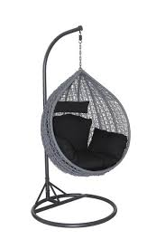 outdoor hanging egg chair with black cushion buy online perth