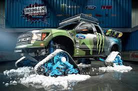 Ford Raptor Truck 2015 - ken block reveals tracked ford f 150 raptor motor trend wot