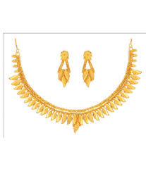 gold necklace set jewellery images Anjali jewellers golden necklace set buy anjali jewellers golden jpg