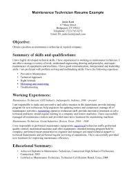 Mechanic Job Description Resume by Job Maintenance Job Description Resume