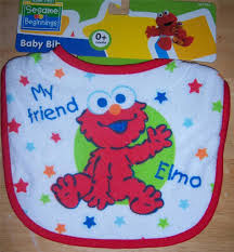 new baby shower sesame street terry bib elmo cookie monster big