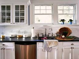 black subway tile kitchen backsplash with white cabinets kitchen glass subway tiles kitchen backsplash