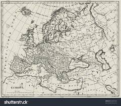 atlas map of europe vector historical map europe atlas published stock vector 62807983