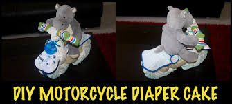 diy motorcycle diaper cake how to make youtube