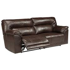 denton leather power reclining sofa signature design by ashley barrettsville 2 seat reclining sofa jcpenney