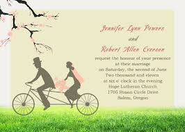 E Card Invites Cheap Bicyle Bride U0026 Groom Cherry Blossom Invitations For Garden