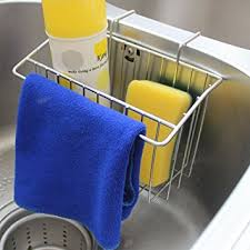 Amazoncom Kitchen Sink Caddy Peleustech Stainless Steel Sink - Kitchen sink sponge holder