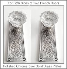 Old Knobs Crystal French Door Knob Sets With Cabaret Old Town Backplates