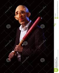 bat mask halloween scary man in suit with mask and baseball bat stock photo image