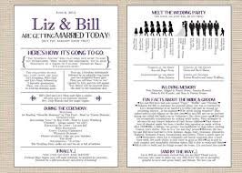 wedding bulletins unique wedding programs templates wally designs