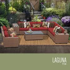Outdoor Wicker Patio Furniture Sets - tk classics laguna 11 piece outdoor wicker patio furniture set 11d