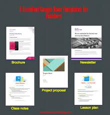 docs templates brochure 5 excellent docs templates for teachers educational