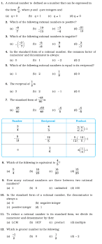 Oxford Countdown Level 6 Maths Mcqs Class 7 Important Questions For Maths Rational Numbers Aglasem