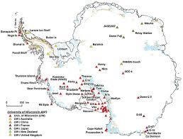 map of antarctic stations ssec