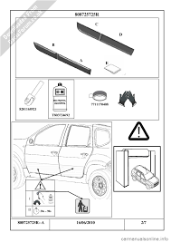 dacia duster 2010 1 g door mouldings fitting guide workshop manual